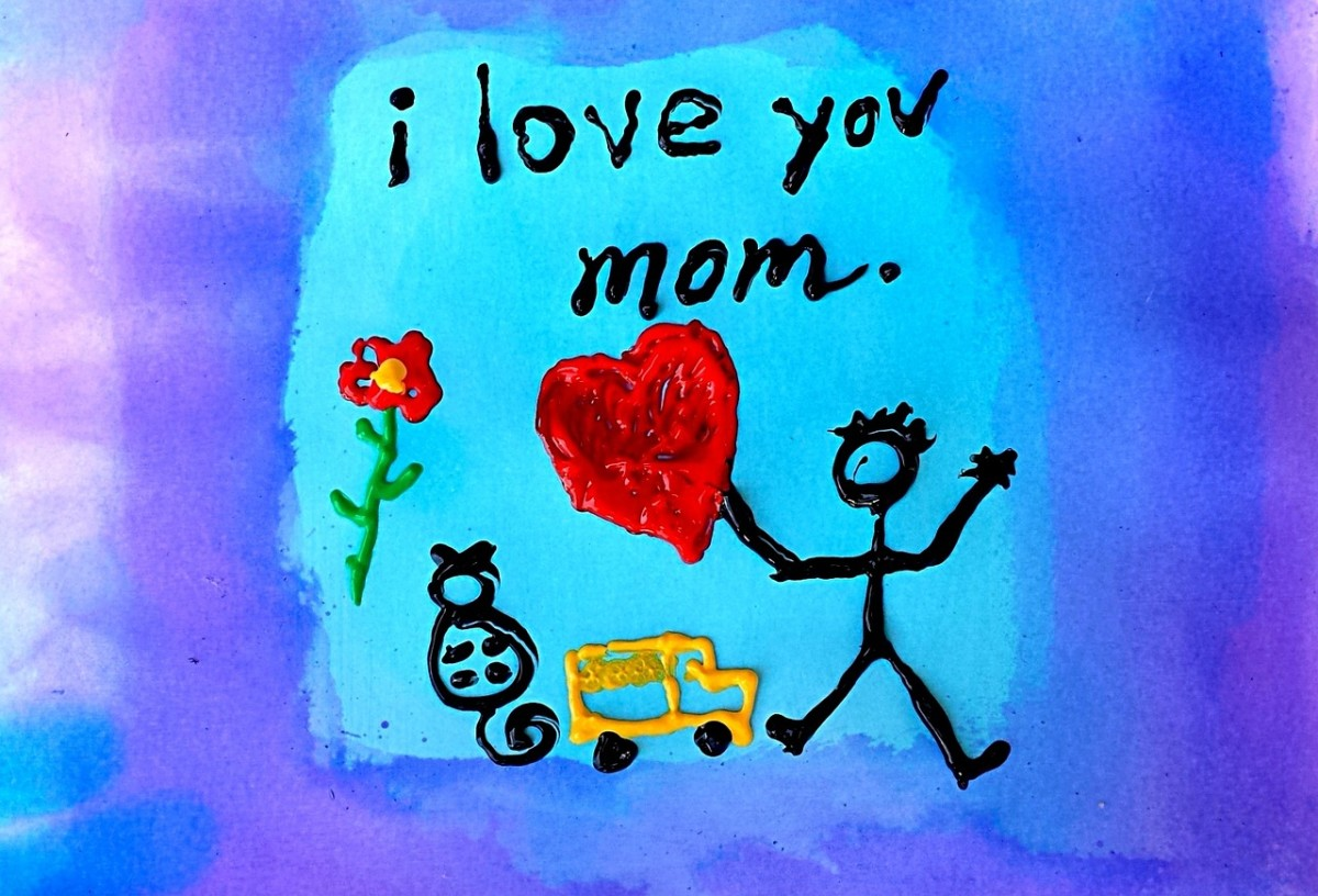 I love you, Mom: A handmade card for Mother's Day will be cherished for years.