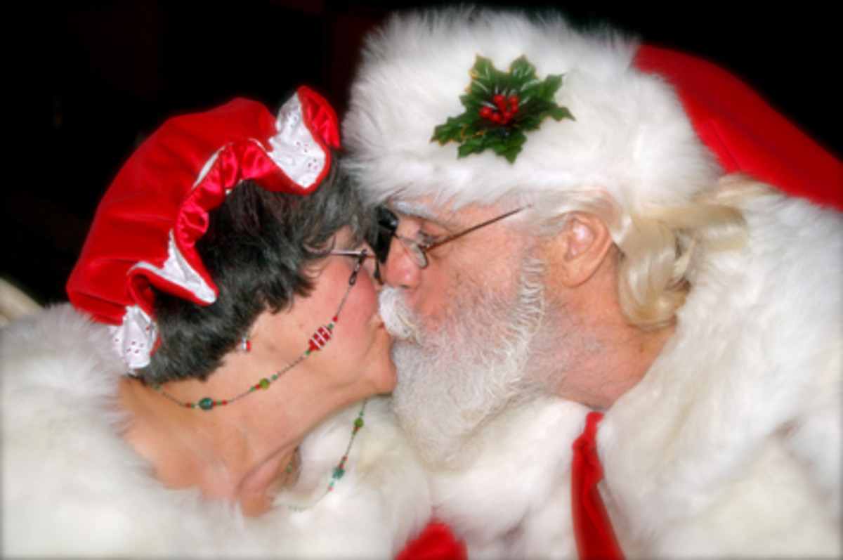 "Mrs. Claus says, ""Back off!  Santa's married!"" Mrs. Claus reports that Santa has kisses that taste like candy canes."