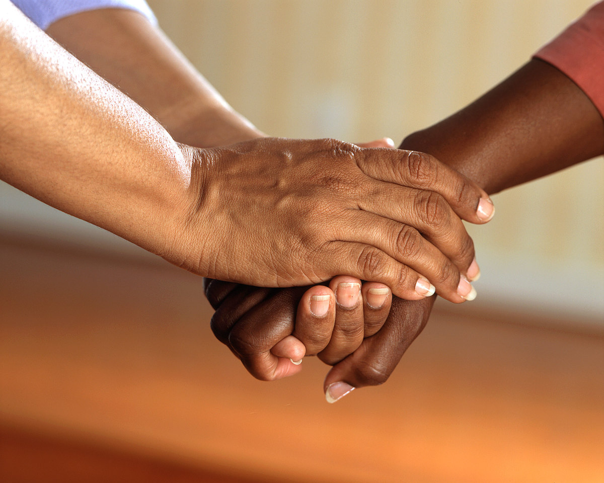 Holding hands and giving thanks