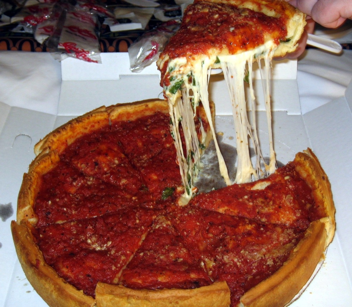 Chicago's Famous Deep Dish Pizza