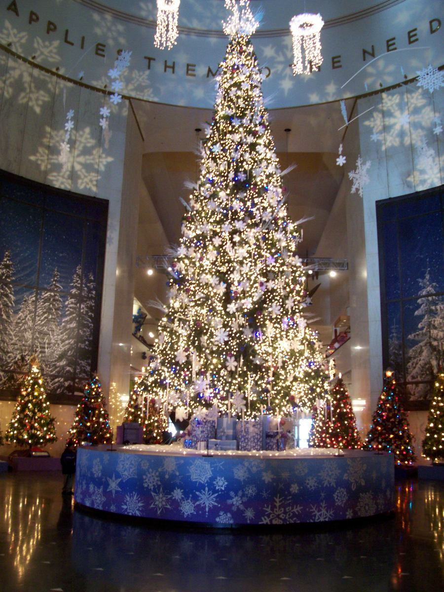 Christmas Tree At Museum Of Science And Industry