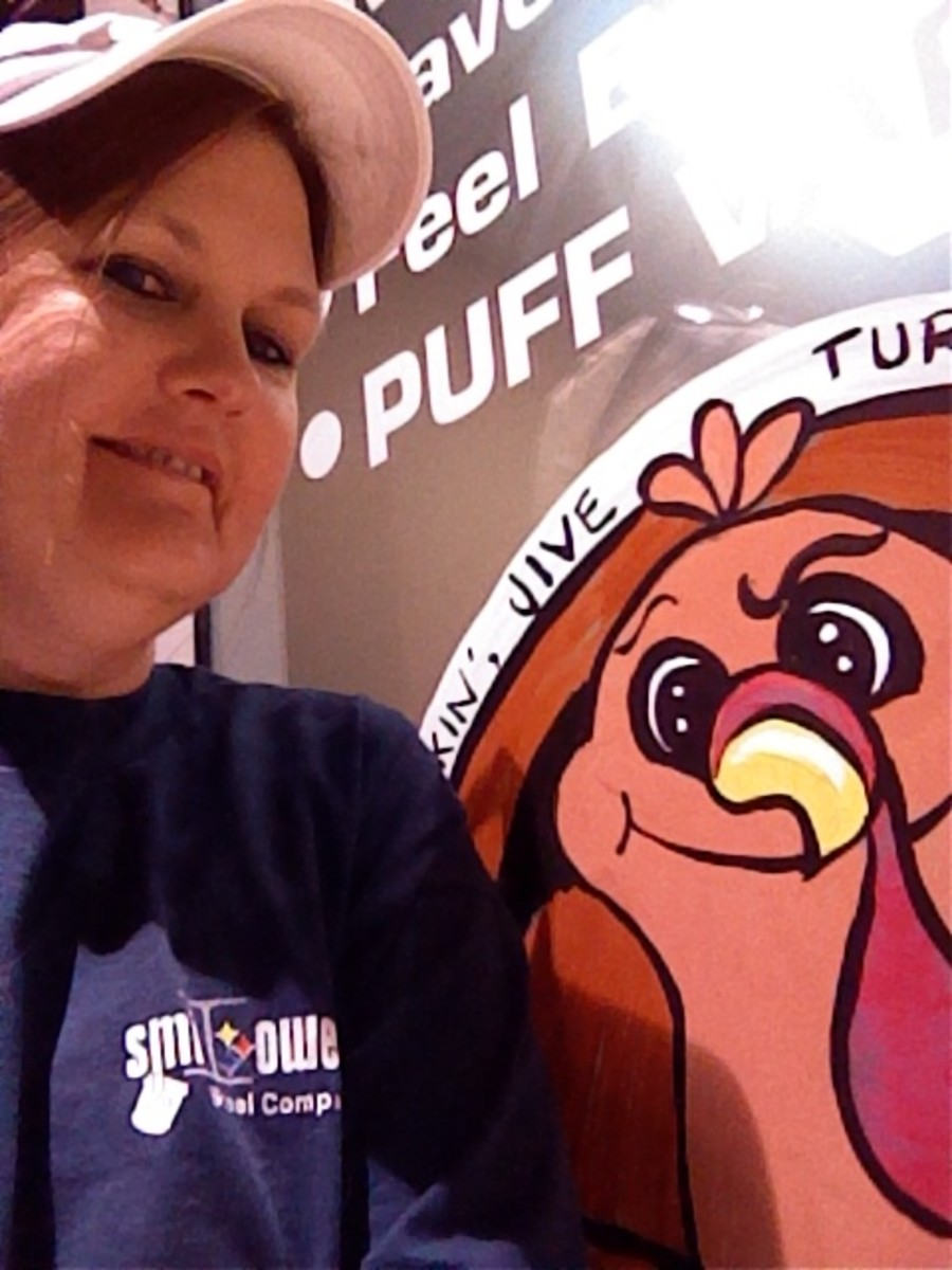 This is Jive Turkey with window painting artist Maria Burgess