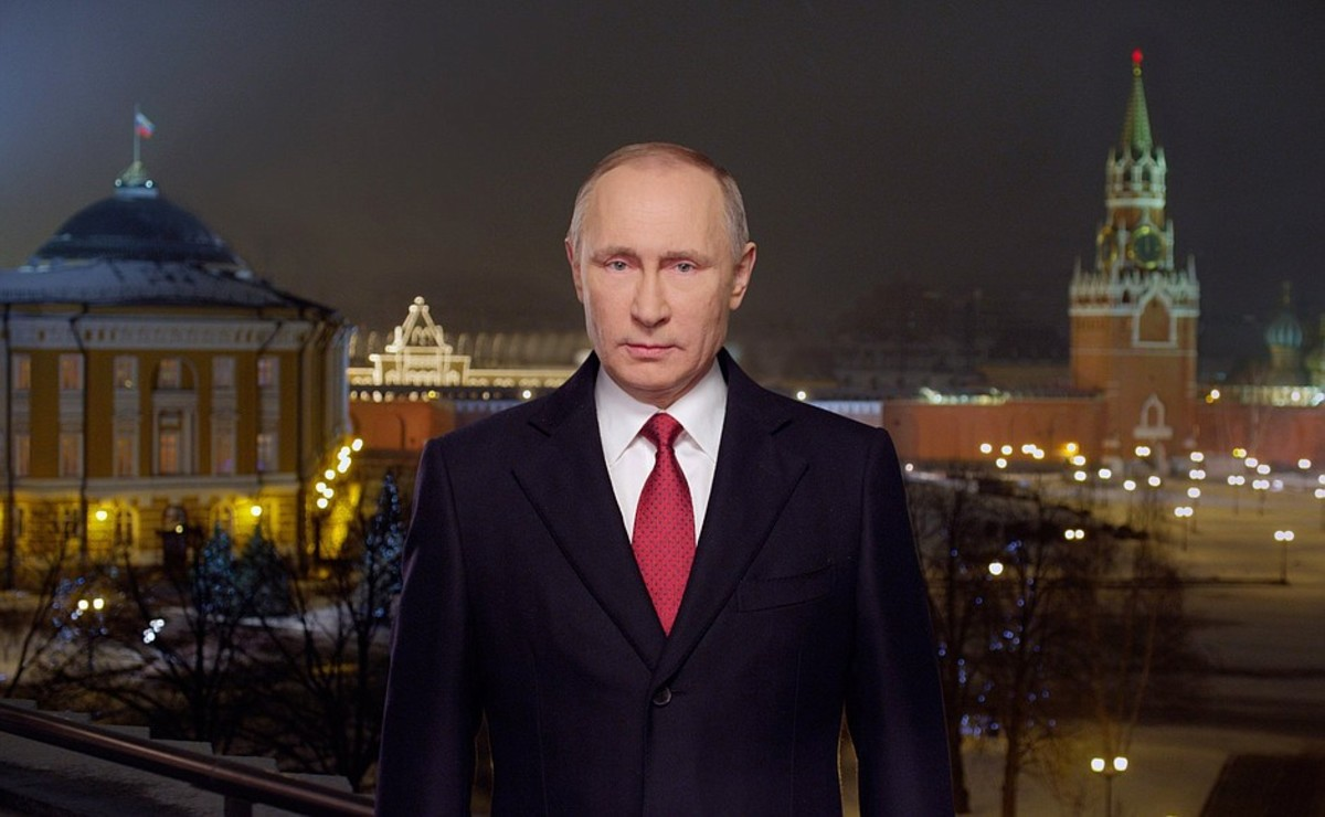 President of Russia Vladimir Putin addresses the nation on New Year's Eve.