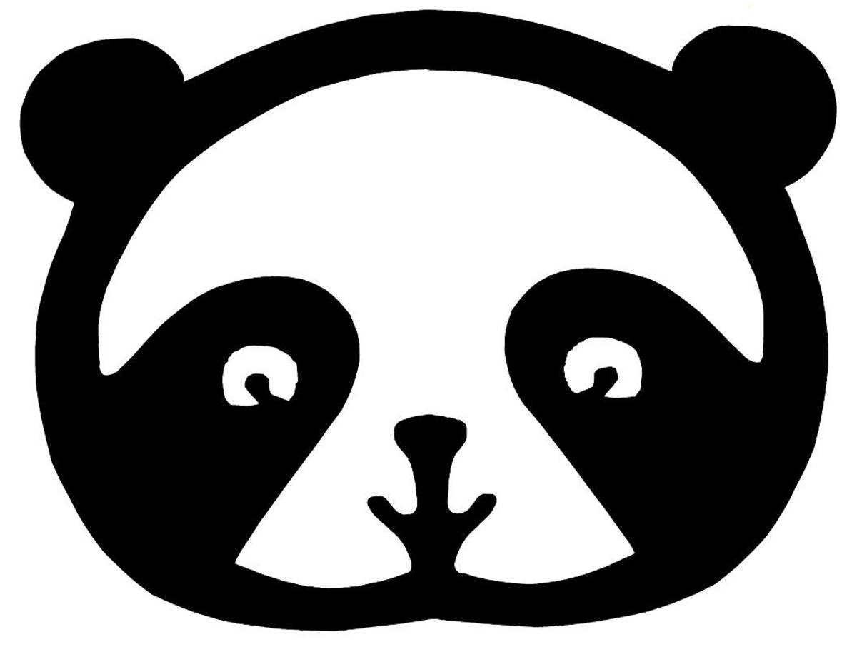 Here is a sample of the panda face papercut you can make with the template linked above.