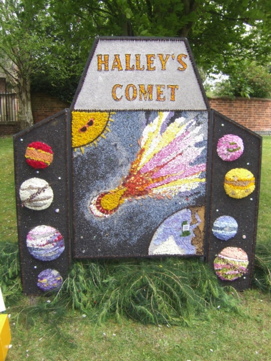 Halley's Comet at Etwall Well Dressing 2010: St. Helen's Church