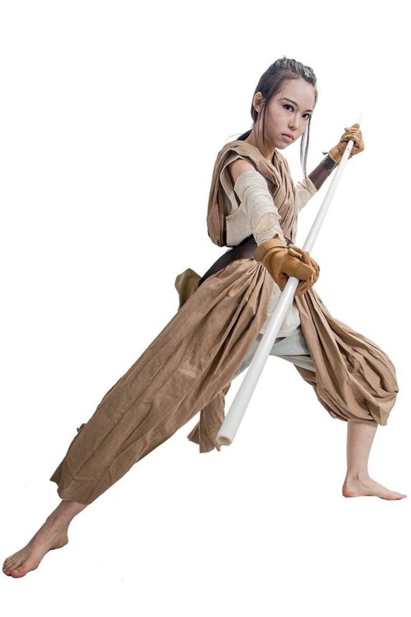 Cosplay costume if you want to dress up like Rey from Star Wars for Halloween or a comic-con