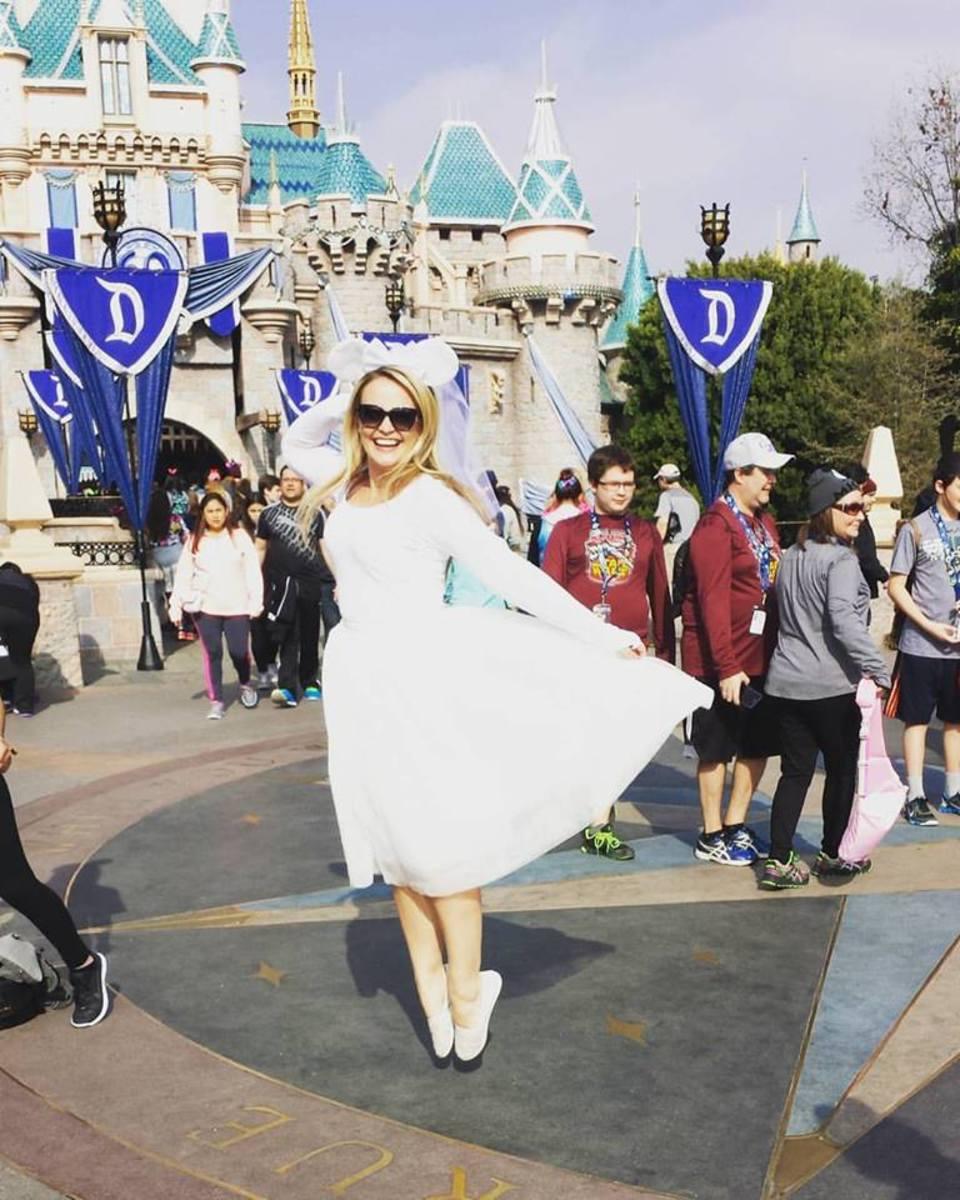As a bride you'll fit in like a Disney princess at Disneyland or Disneyworld.