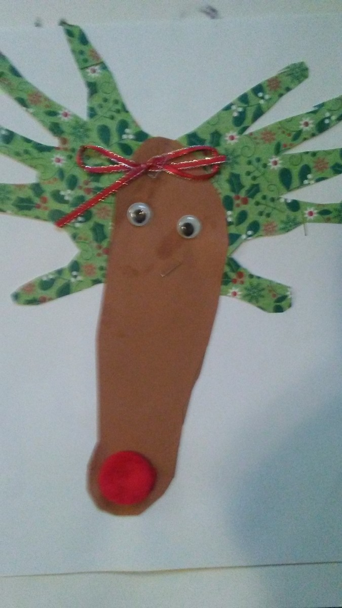 These reindeer are so easy to make and grandparents love them!