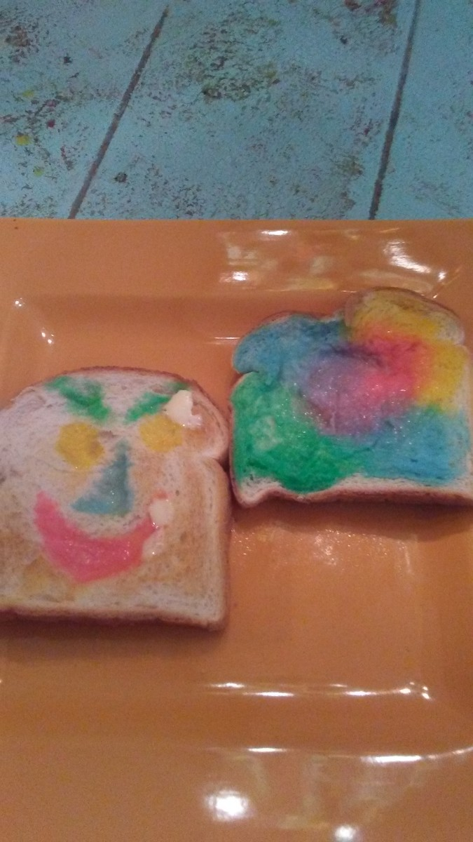 Making monster toast is easy, quick, and fun.