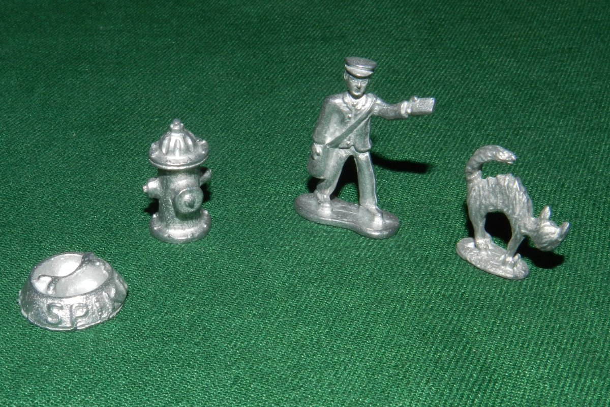 Game pieces from Yorki-opoly.