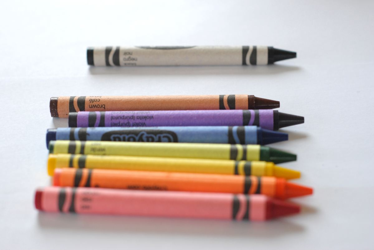 Crayons and Print Outs