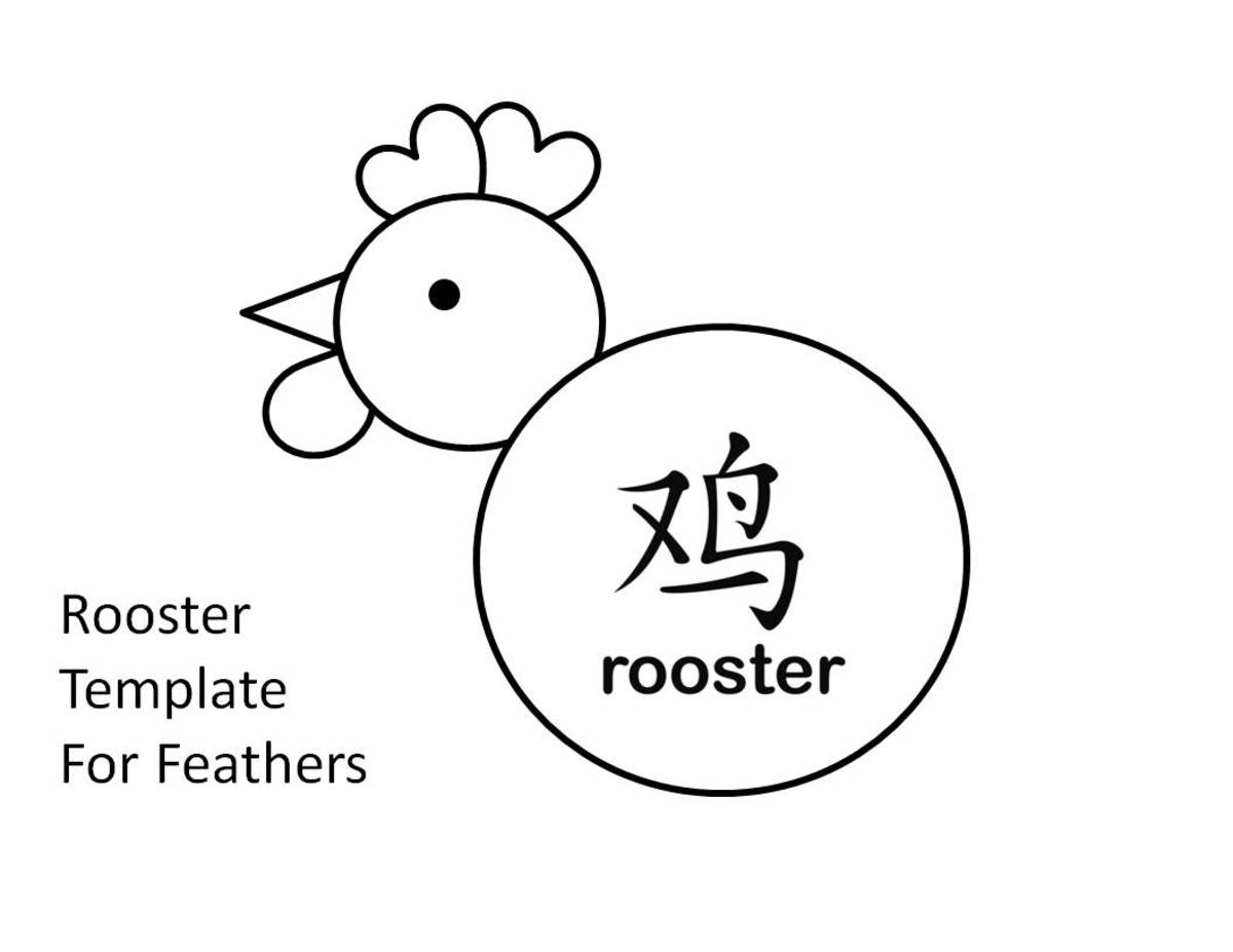 Shape rooster template
