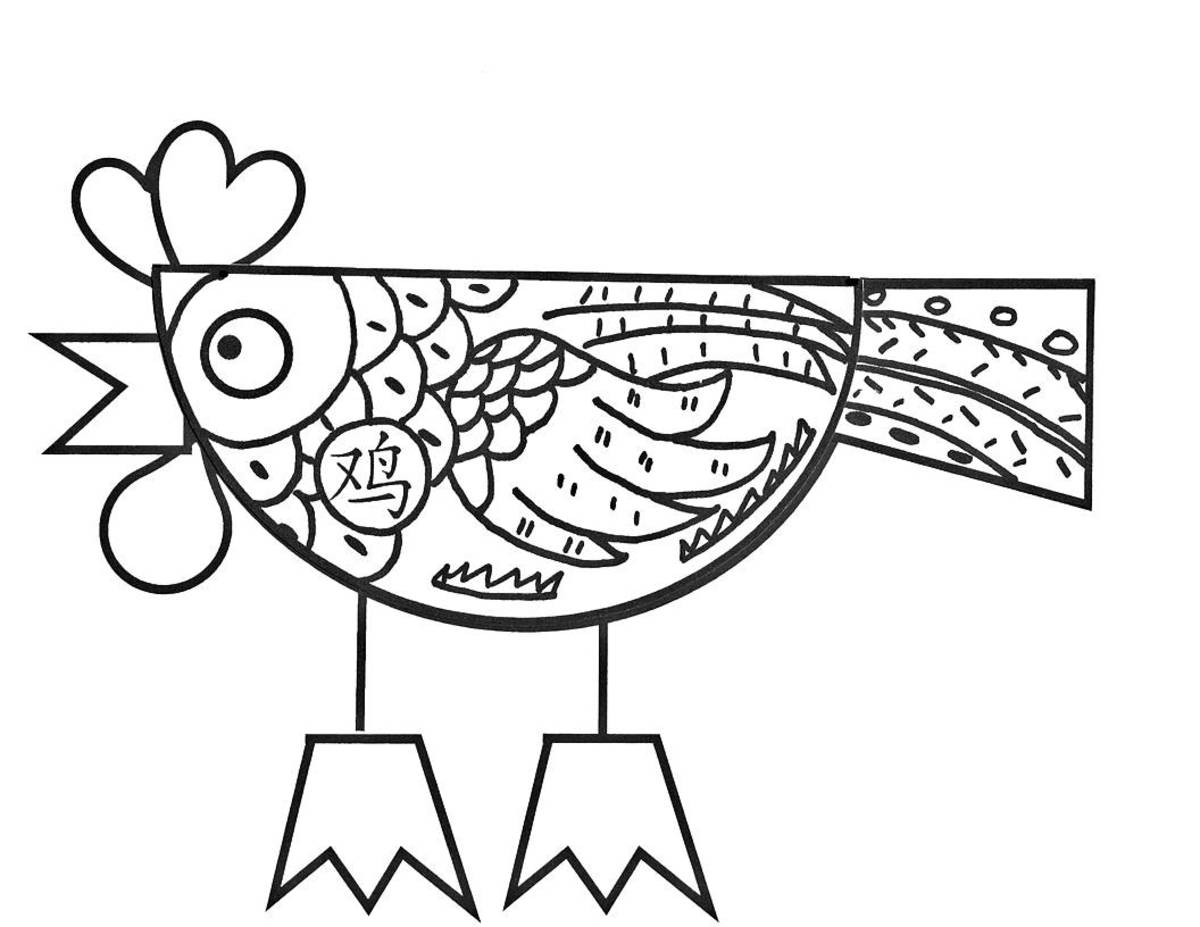 Printable Crafts for Year of the Rooster
