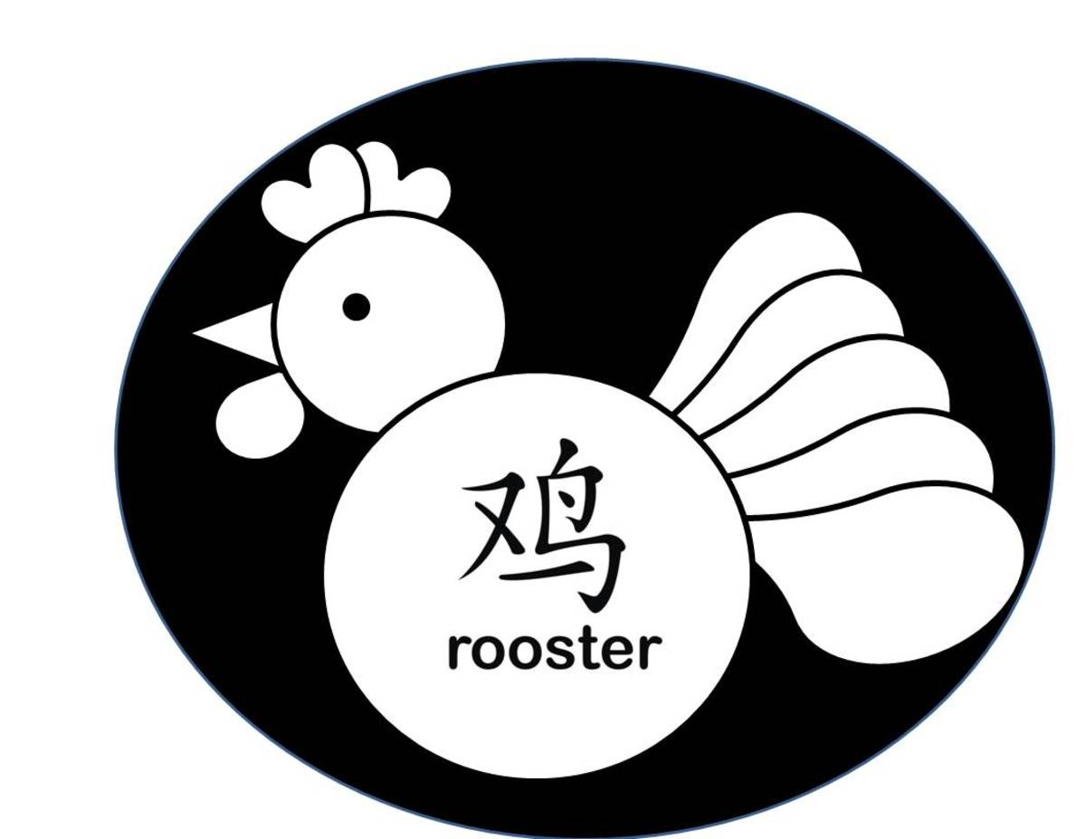 Shape rooster in oval
