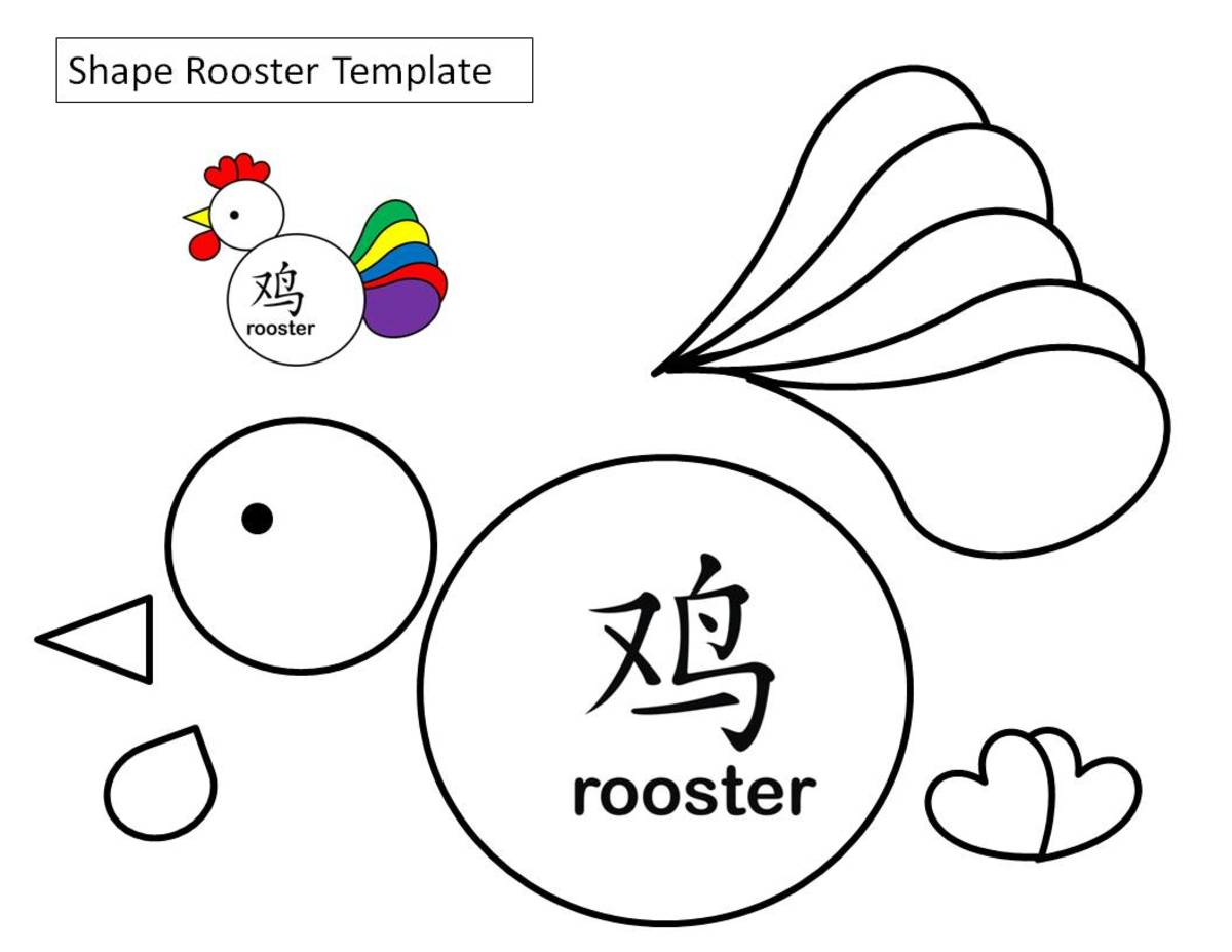 Shapes rooster template