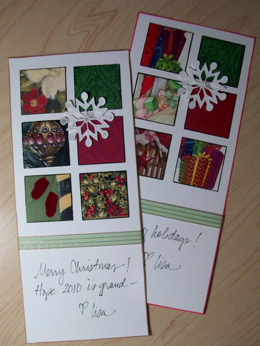 Window Christmas Card by Lisa Fulmer