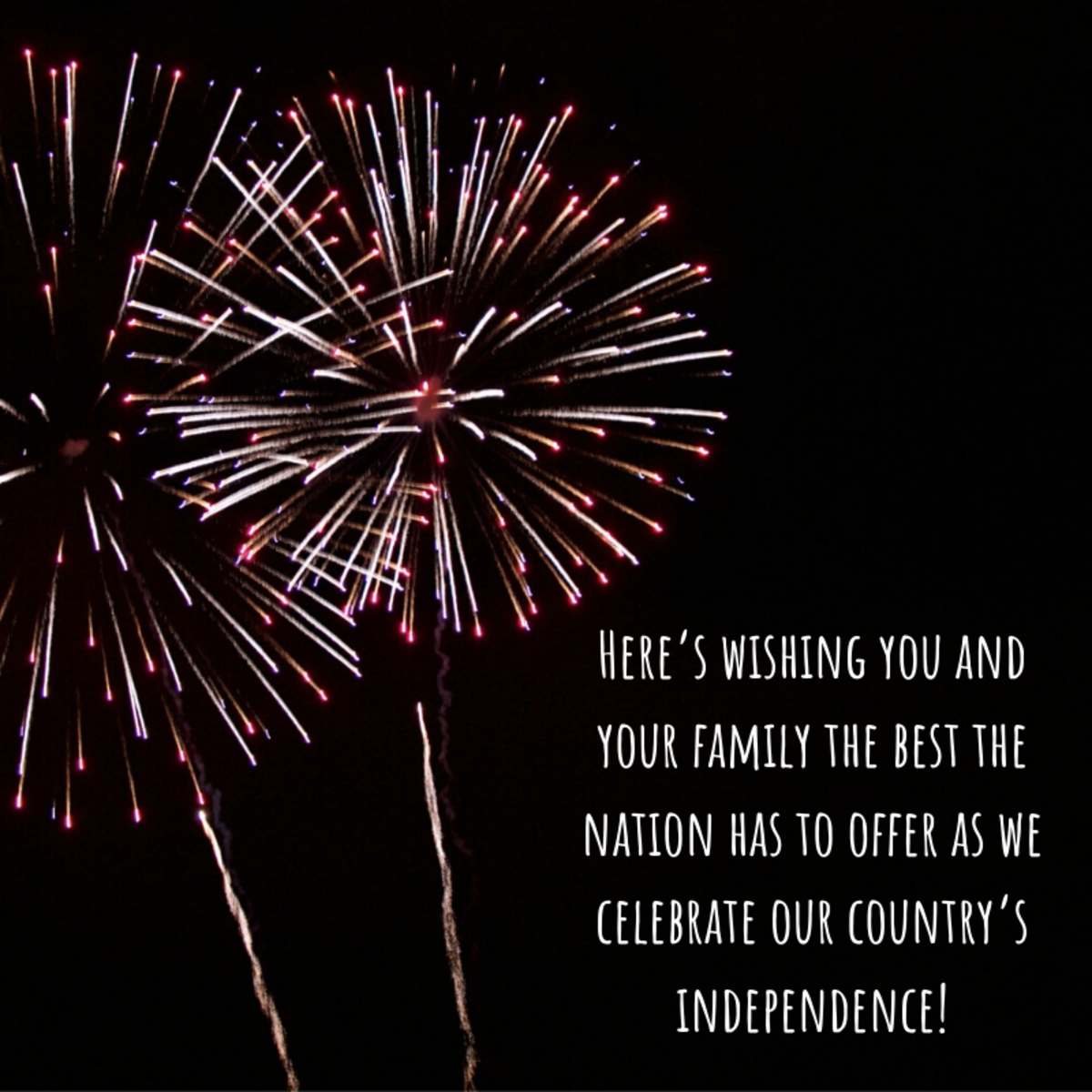 Independence Day greetings should be uplifting, patriotic, and inspirational!