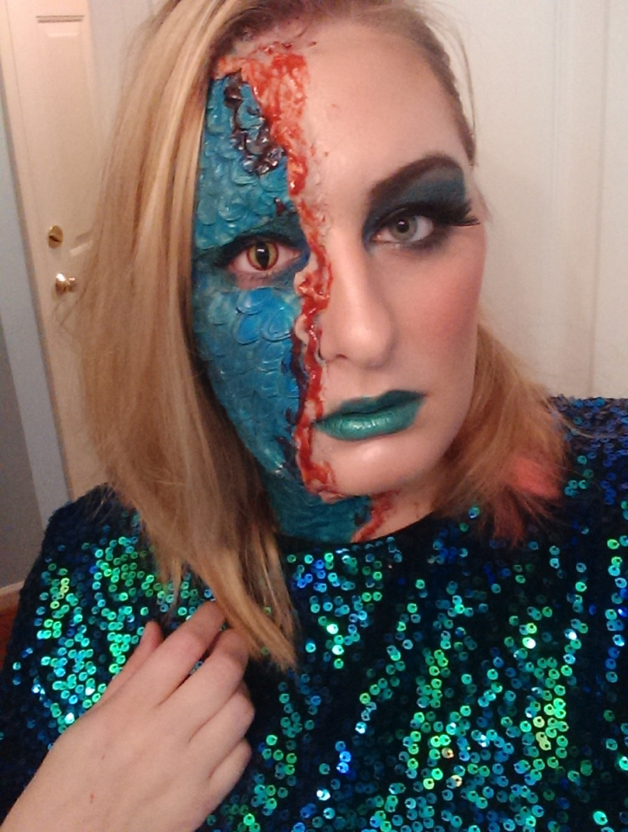 The finished product! I won $100 in a costume contest with this look!