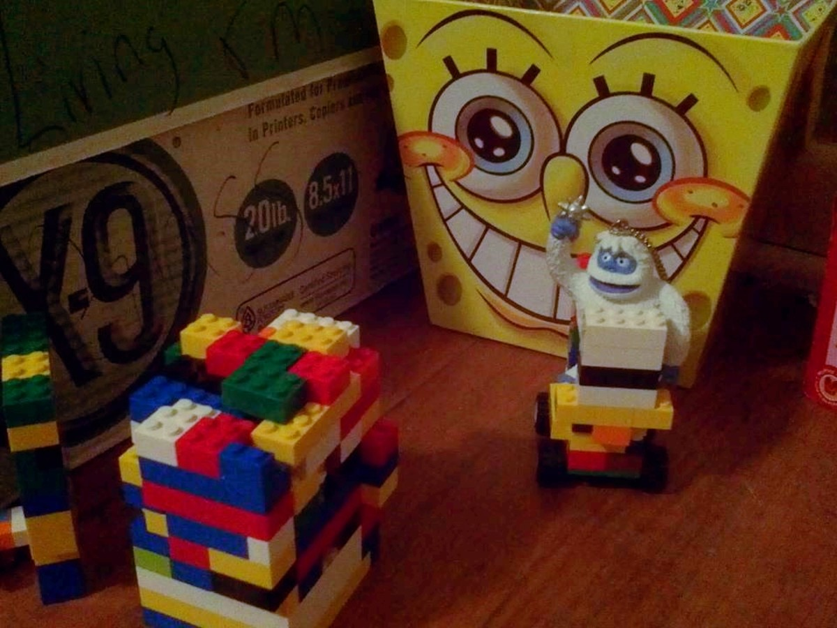 Bumble turned a Lego car that was left out into a convertible and took it for a spin.