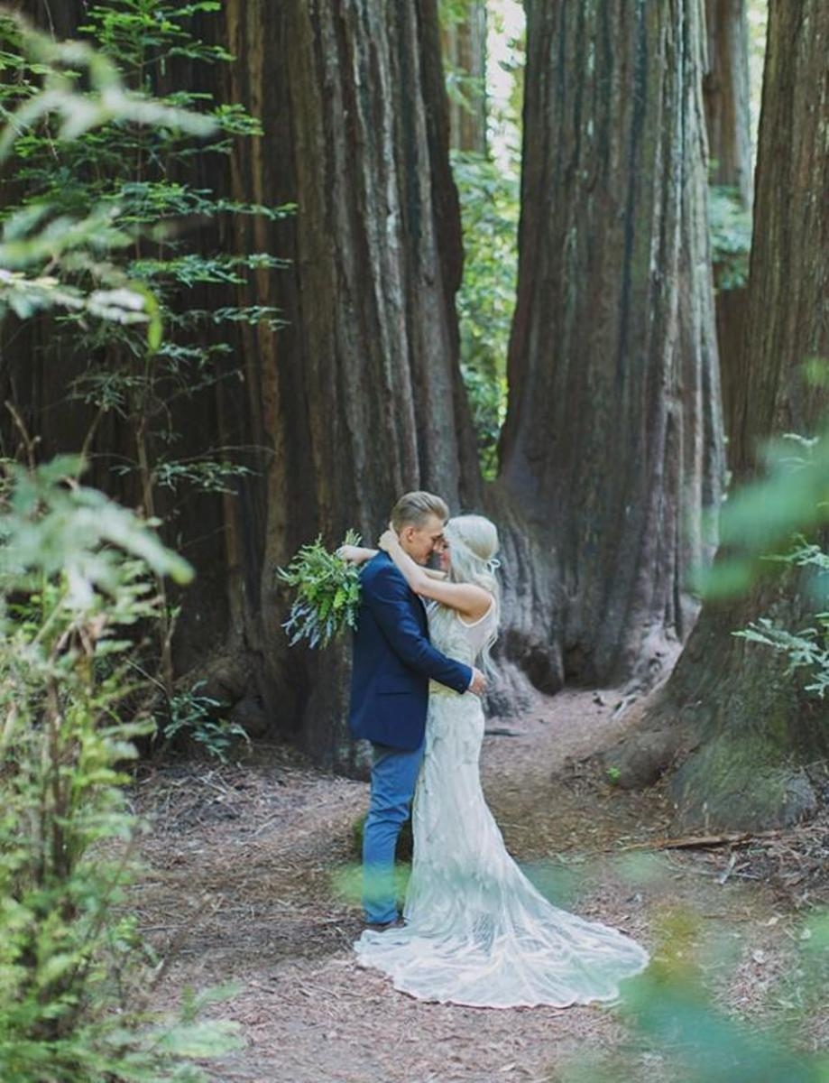 bohemian wedding in the Redwood forest...