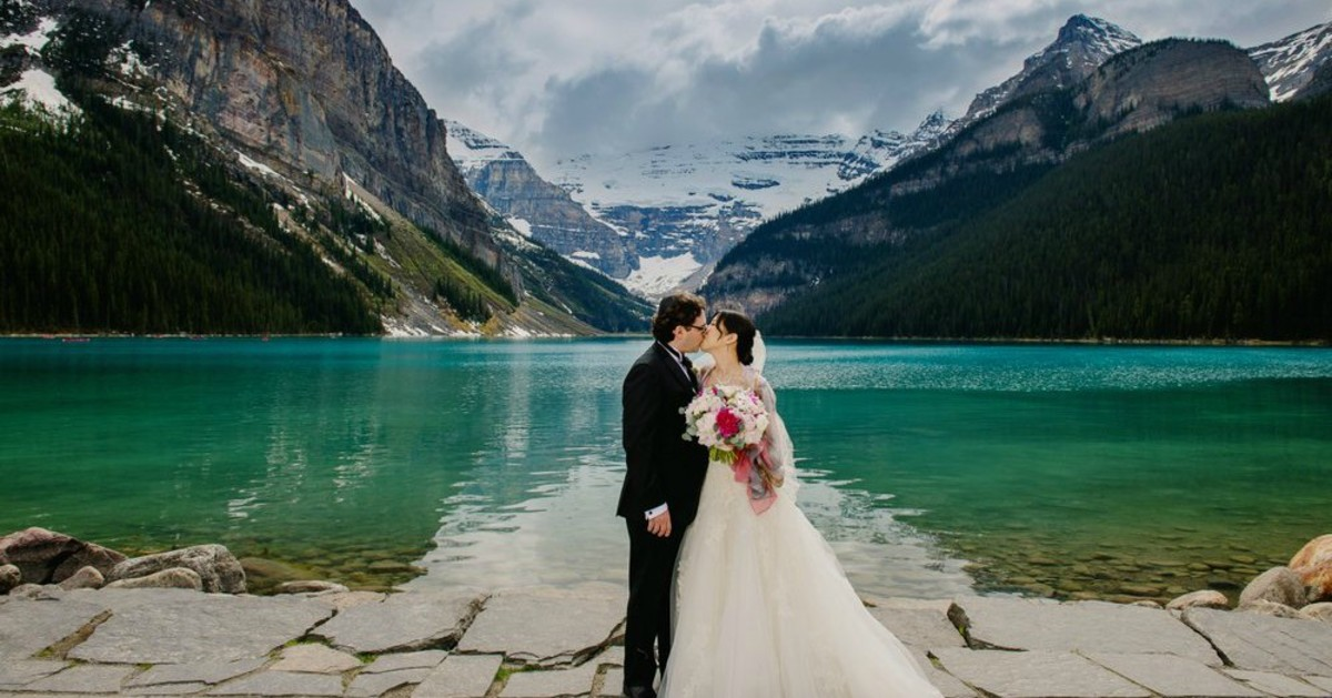 The emerald waters of Lake Louise and the Canadian Rockies at the background is truly breathtaking....