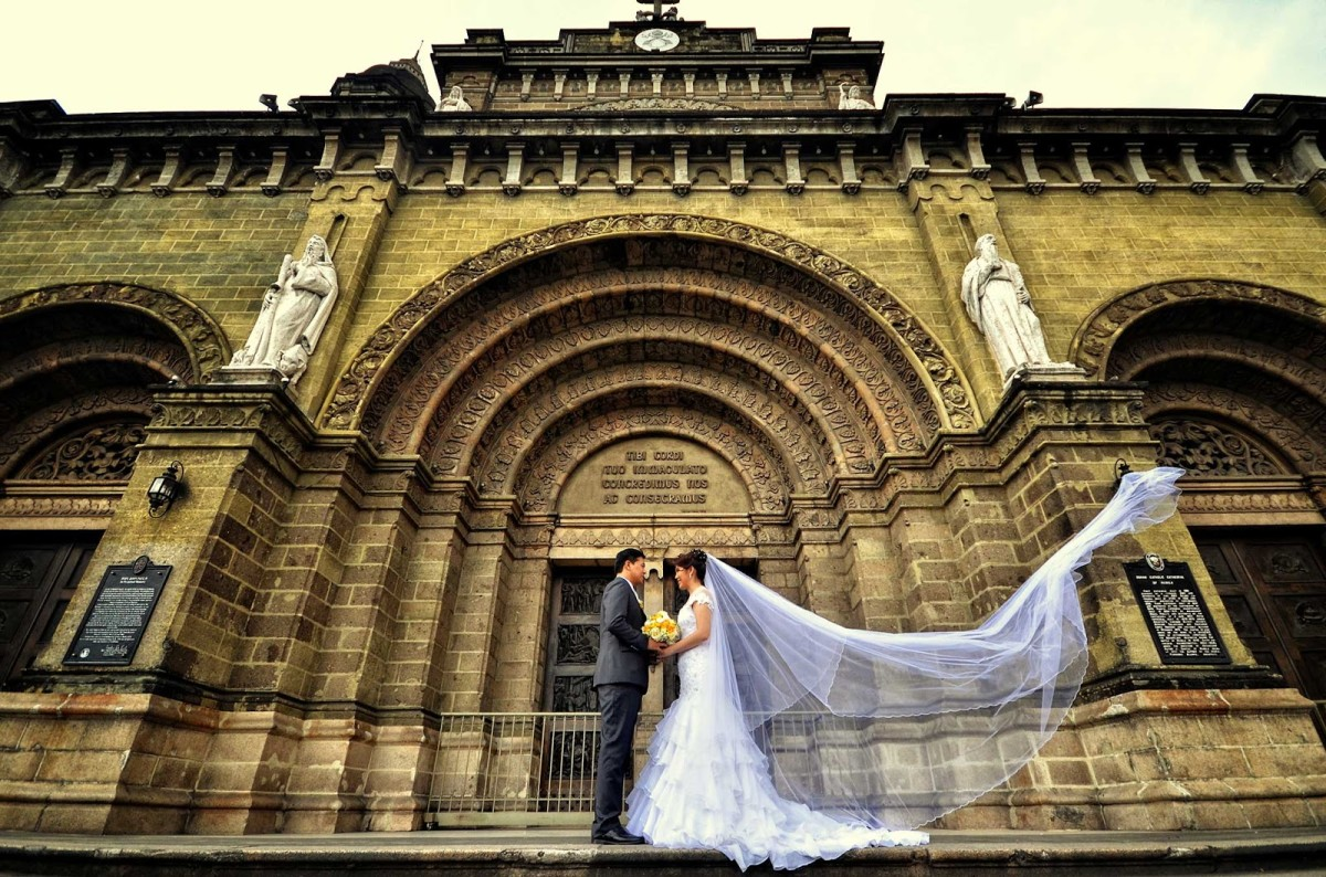 church wedding is most ideal in the Philippines...