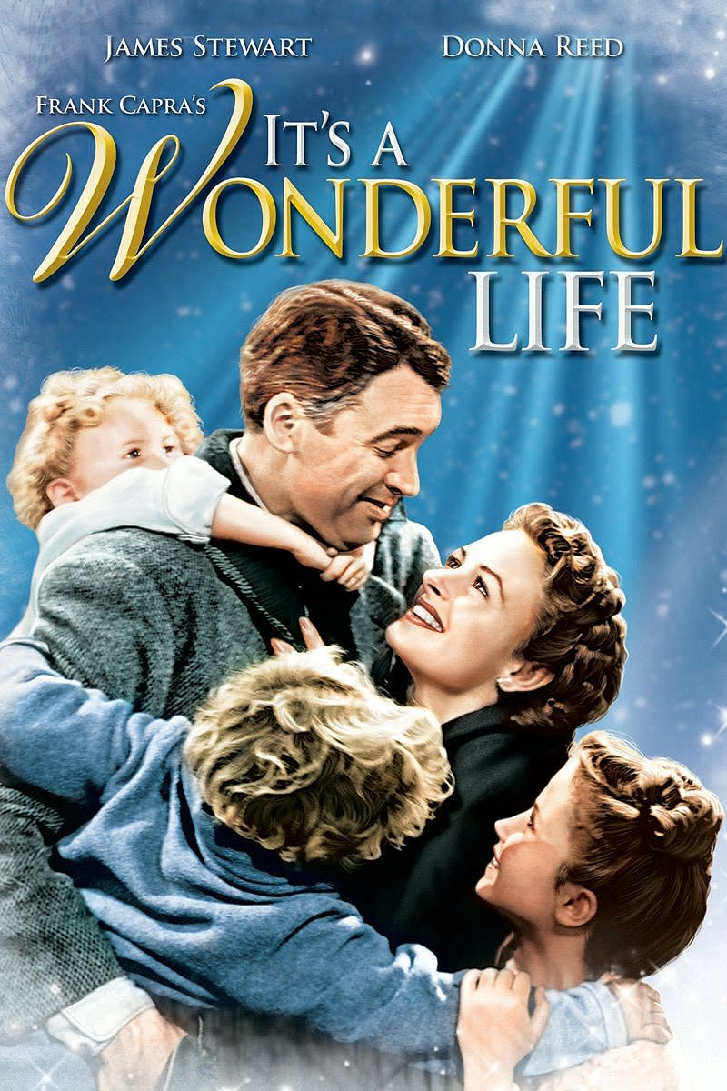 It's A Wonderful Life (1946); Starring: James Stewart, Donna Reed, Lionel Barrymore, Thomas Mitchell, & Henry Travers