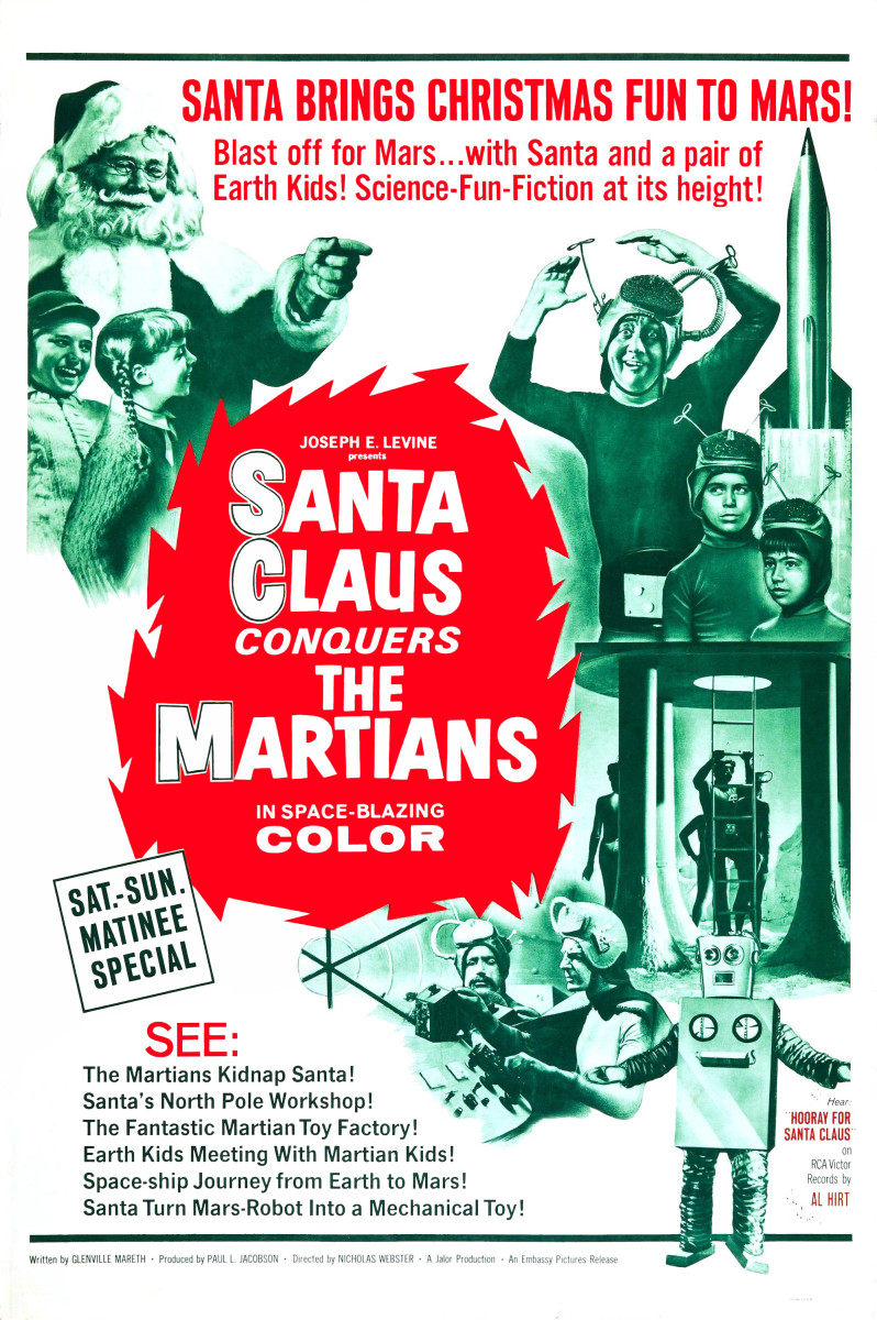 Santa Claus Conquers The Martians (1964); Starring: John Call, Leonard Hicks, & Vincent Beck
