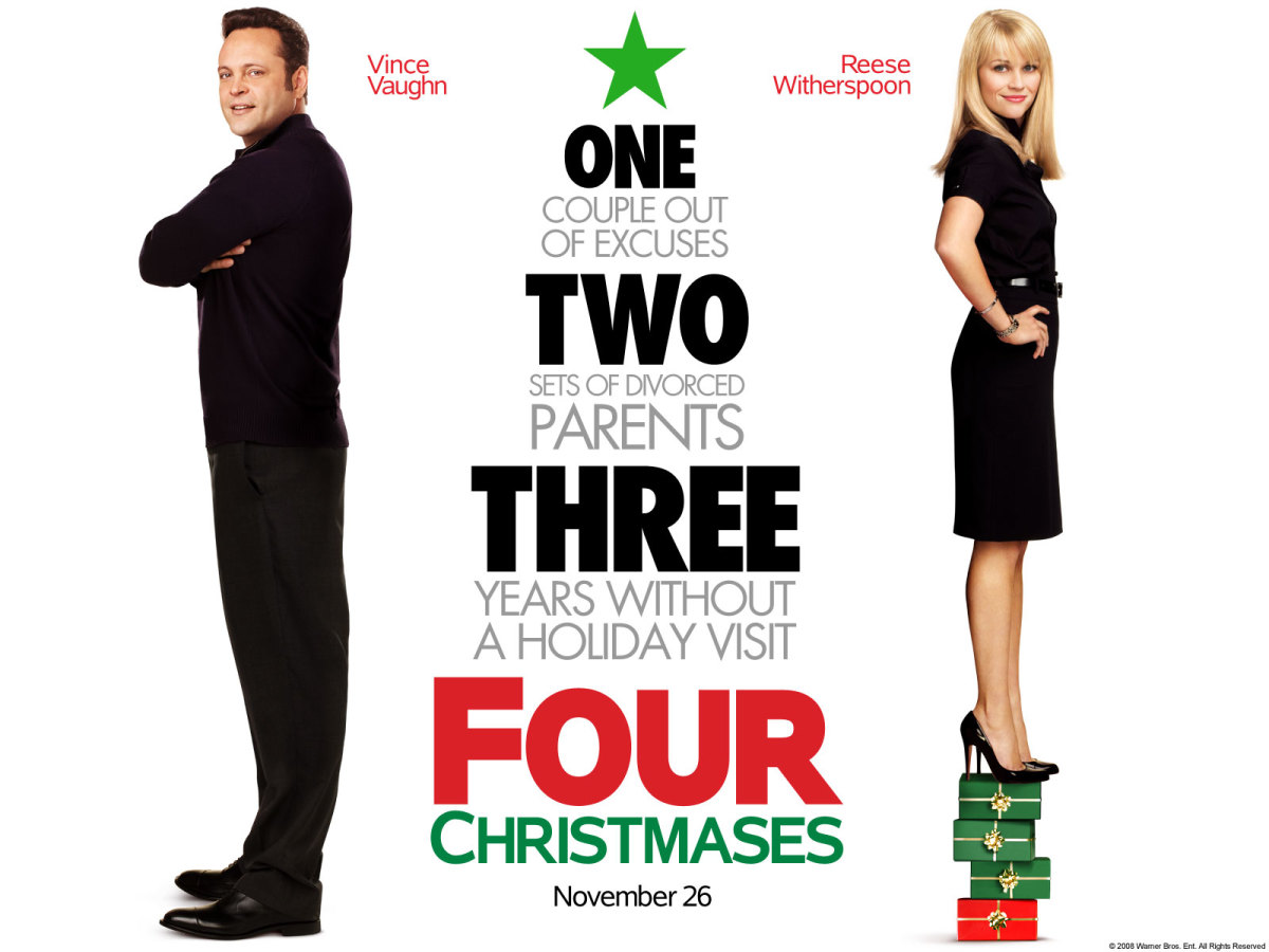 Four Christmases (2008); Starring: Vince Vaughn, Reese Witherspoon, Robert Duvall, & Sissy Spacek