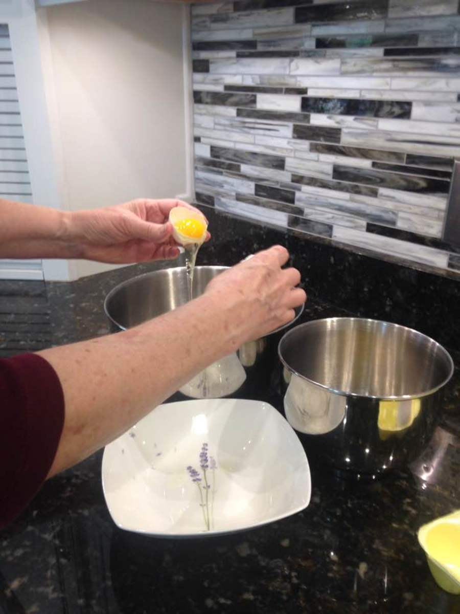 Egg yolks and separating is a key point in the recipe