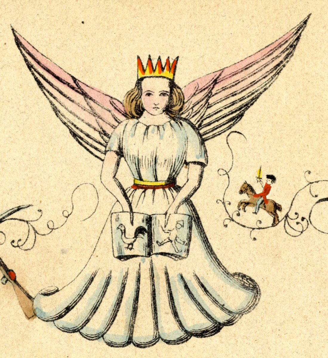 The Christkind as depicted in the famous German 1845 children's book Der Struwwelpeter