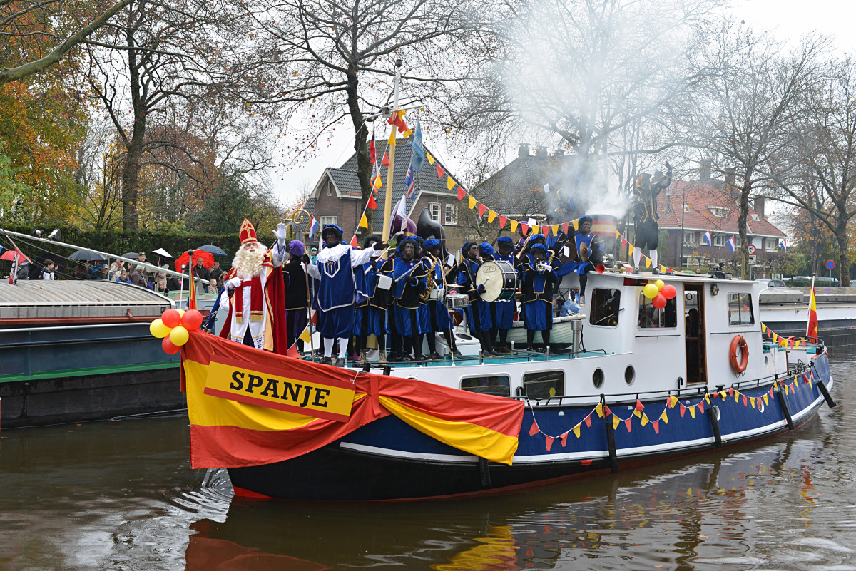 Sinterklaas parade in 2014 in Veghel, North Brabant, Netherlands