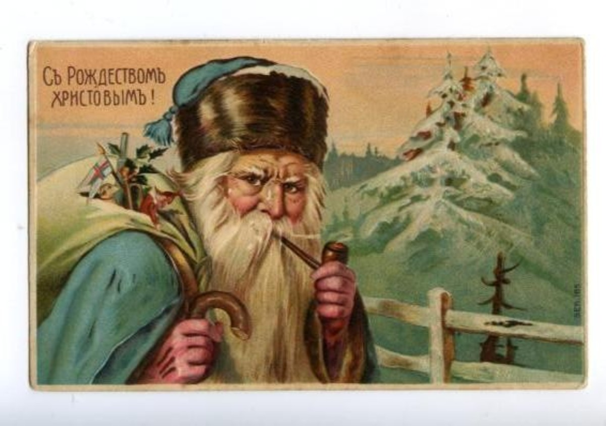 Postcard of Ded Moroz