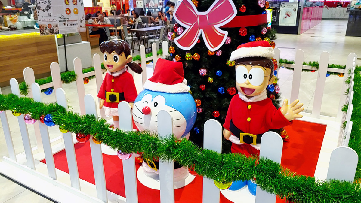Doraemon, one of Japan's most enduring Anime characters, is the festive star at AMK Hub's 2019 Christmas celebration.