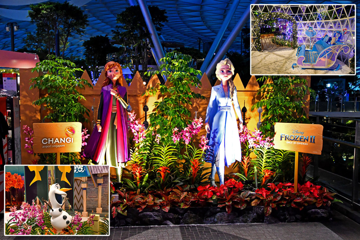 Singapore Changi Airport is nowadays also very popular with Singaporeans and tourists alike for its elaborate Christmas set pieces. In 2019, the decorations were inspired i.e. based on Disney's Frozen 2.