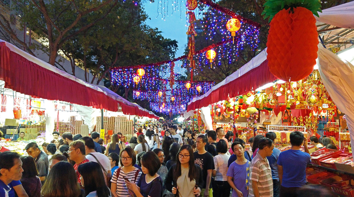 The festive market itself.