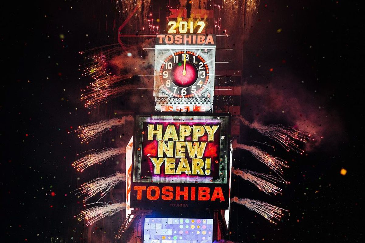 2017 is Celebrated in Times Square, New York.