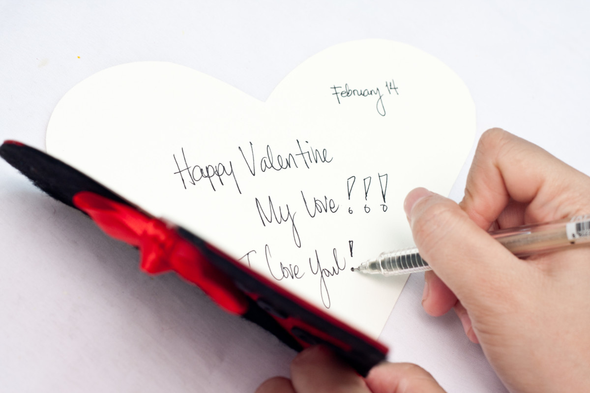 Write a loving message inside the card