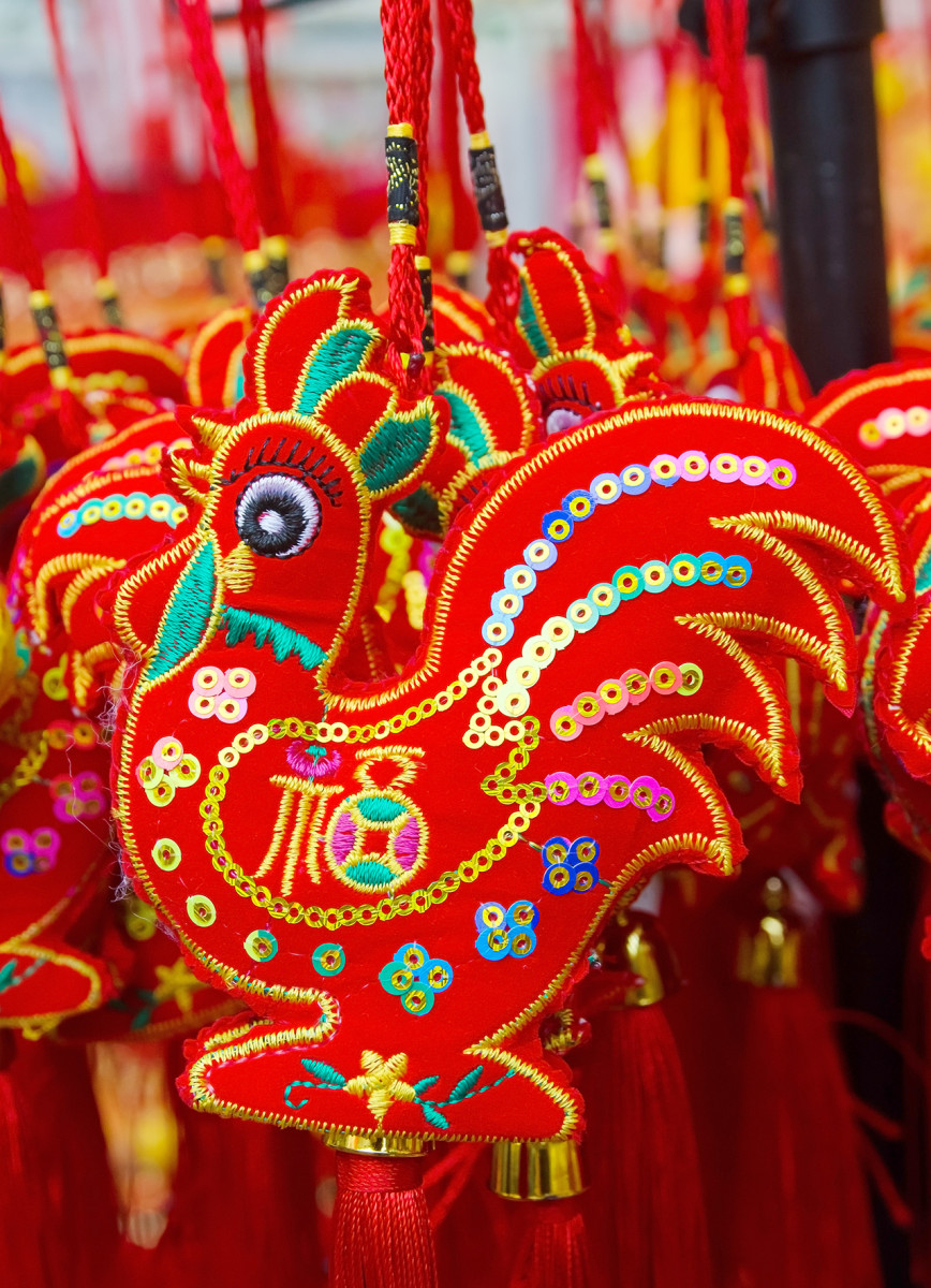 Many Chinese New Year decorations prominently feature one Chinese Zodiac animal.