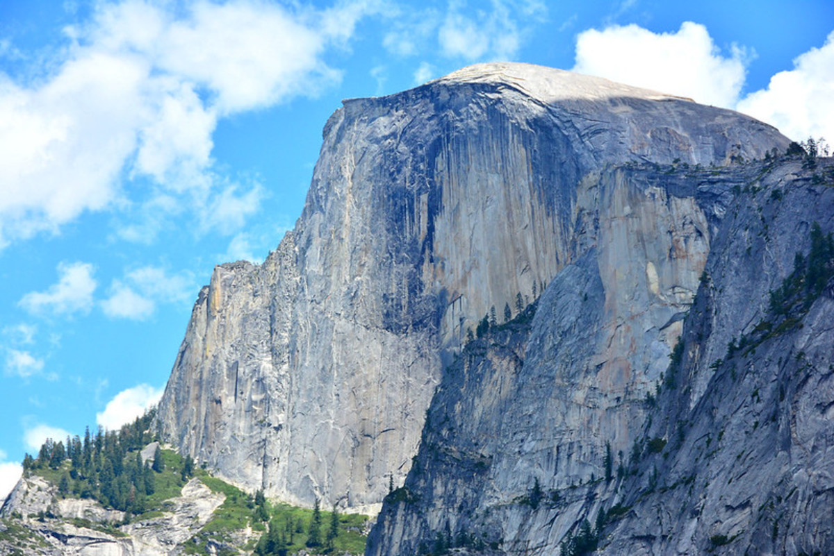 Half Dome in Yosemite is hardly a saunter; it's a full-day ambitious hike, but there is plenty of sauntering available in the vicinity.