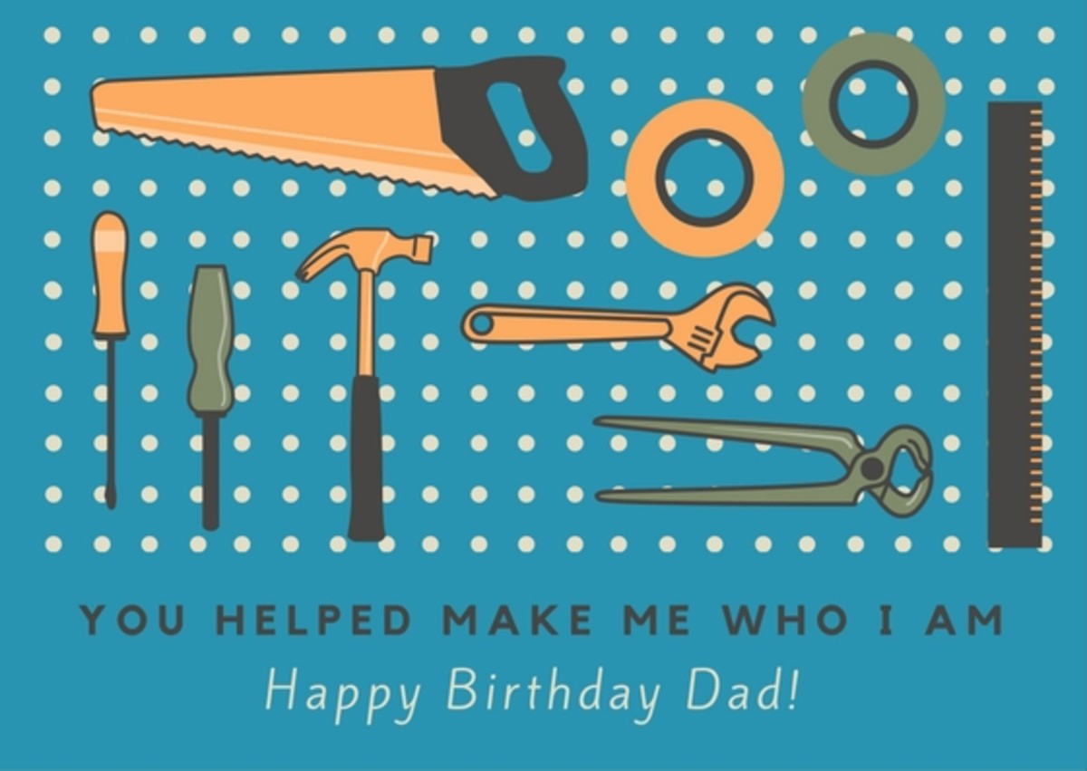 Let your dad know how much influence he has had in your life with a special birthday message.