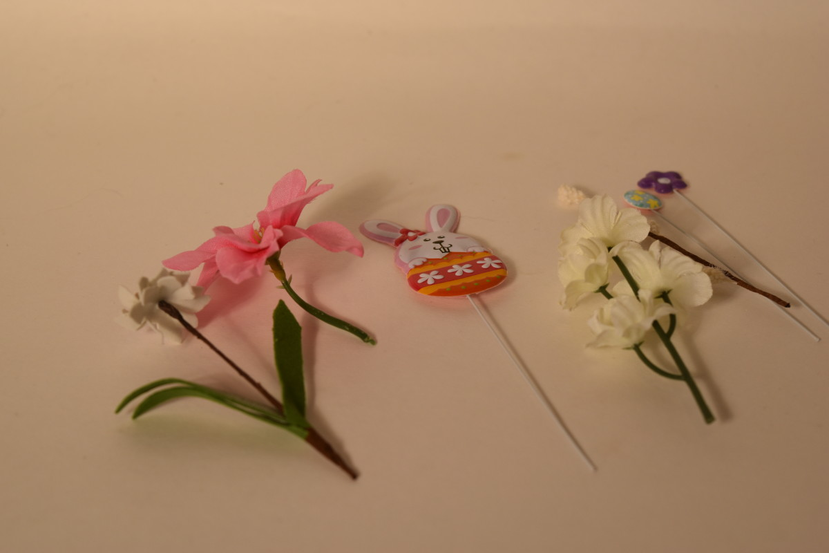 Everything to make a boutonniere.