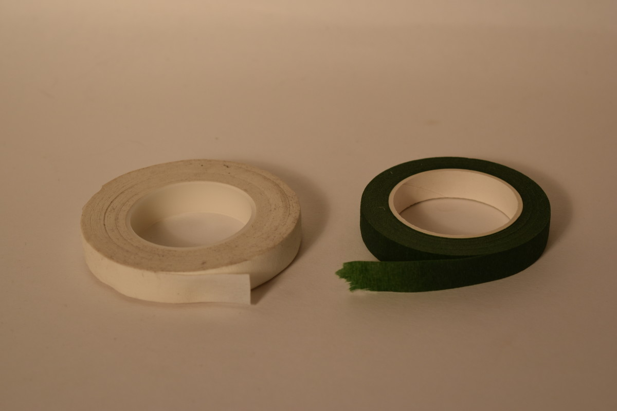 White and green floral tape