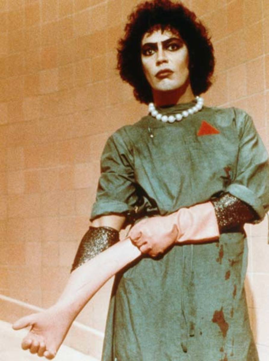 Dr. Frank-N-Furter in his lab costume.