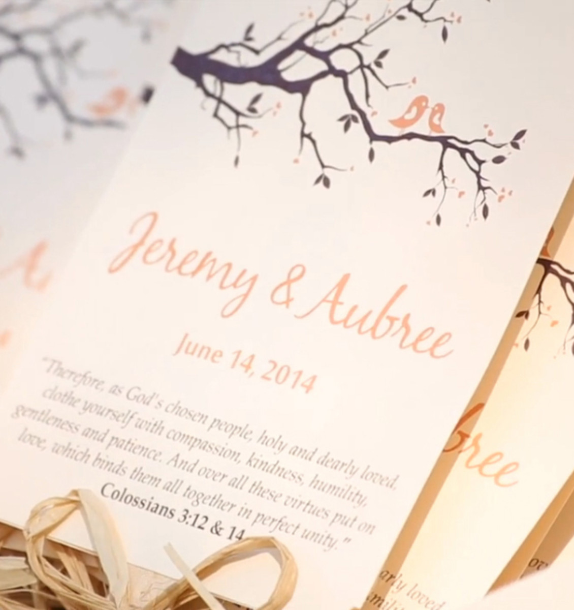 How To Create Your Own Wedding Program Fans