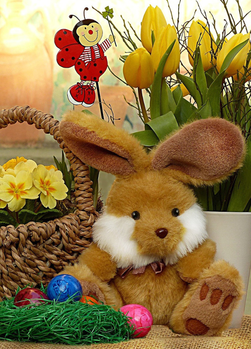 If you do not wish to give chocolate or candy this Easter, consider a soft toy rabbit as a gift instead.