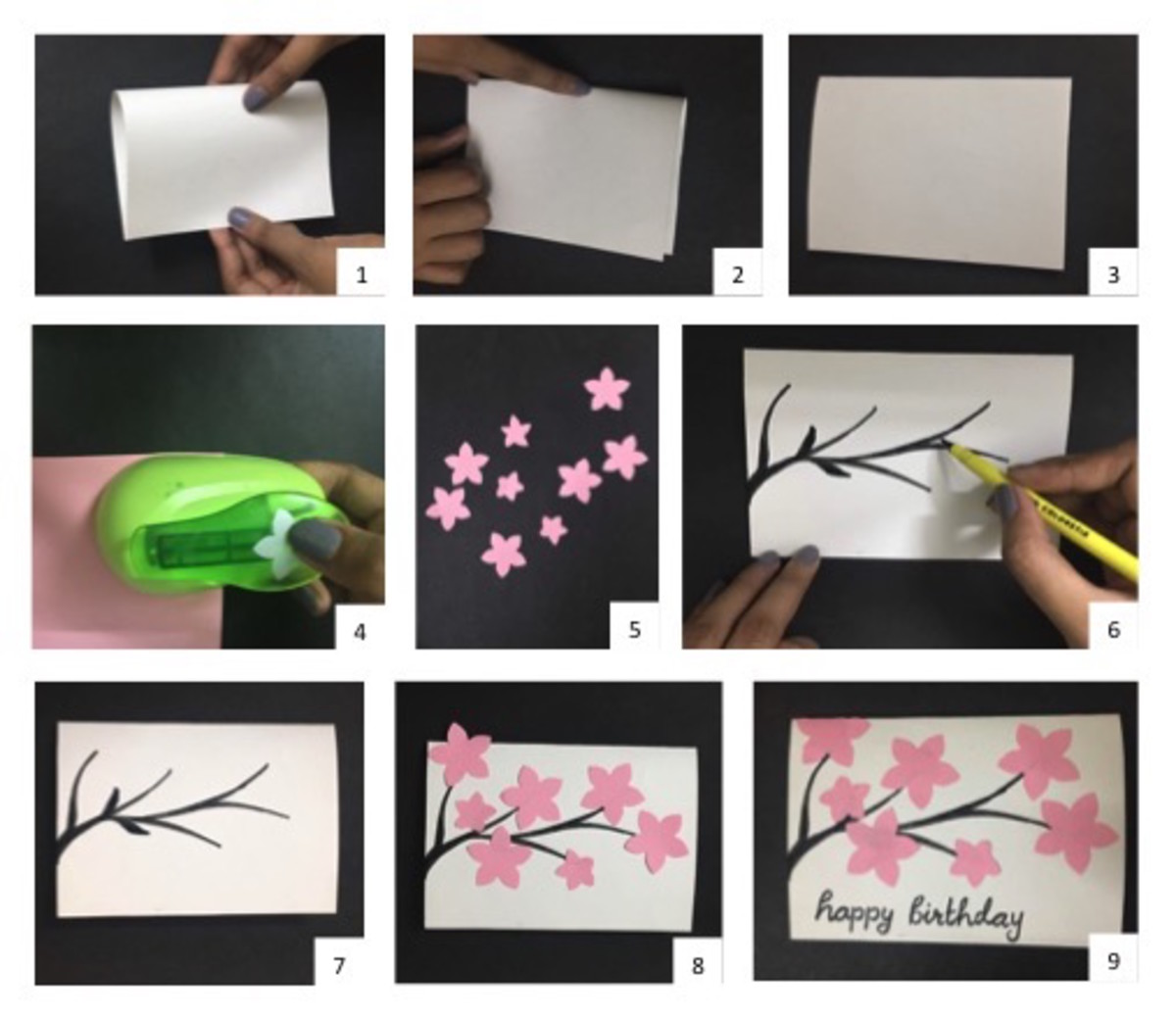 Instructions for Blossom Greeting Card