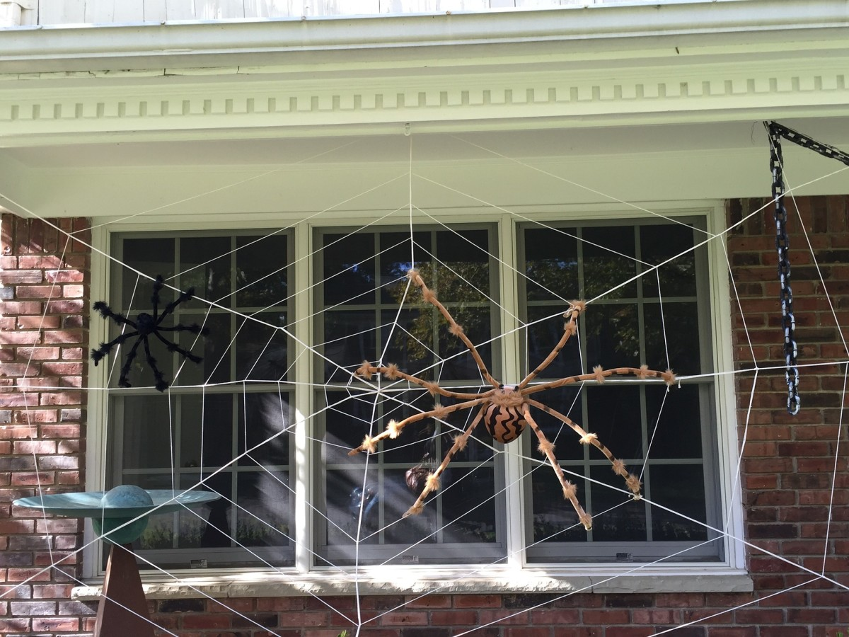 A big scary fake spider can't protect your house one Halloween, but some commonsense safety tips can help give you peace of mind when the ghosts and goblins are out.