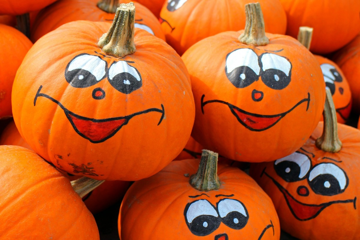 A safer alternative to lighting pumpkin with a candle is to use a battery-powered tea light or a solar-powered LED light. You could also paint faces on your pumpkins instead of carving them up with sharp tools.