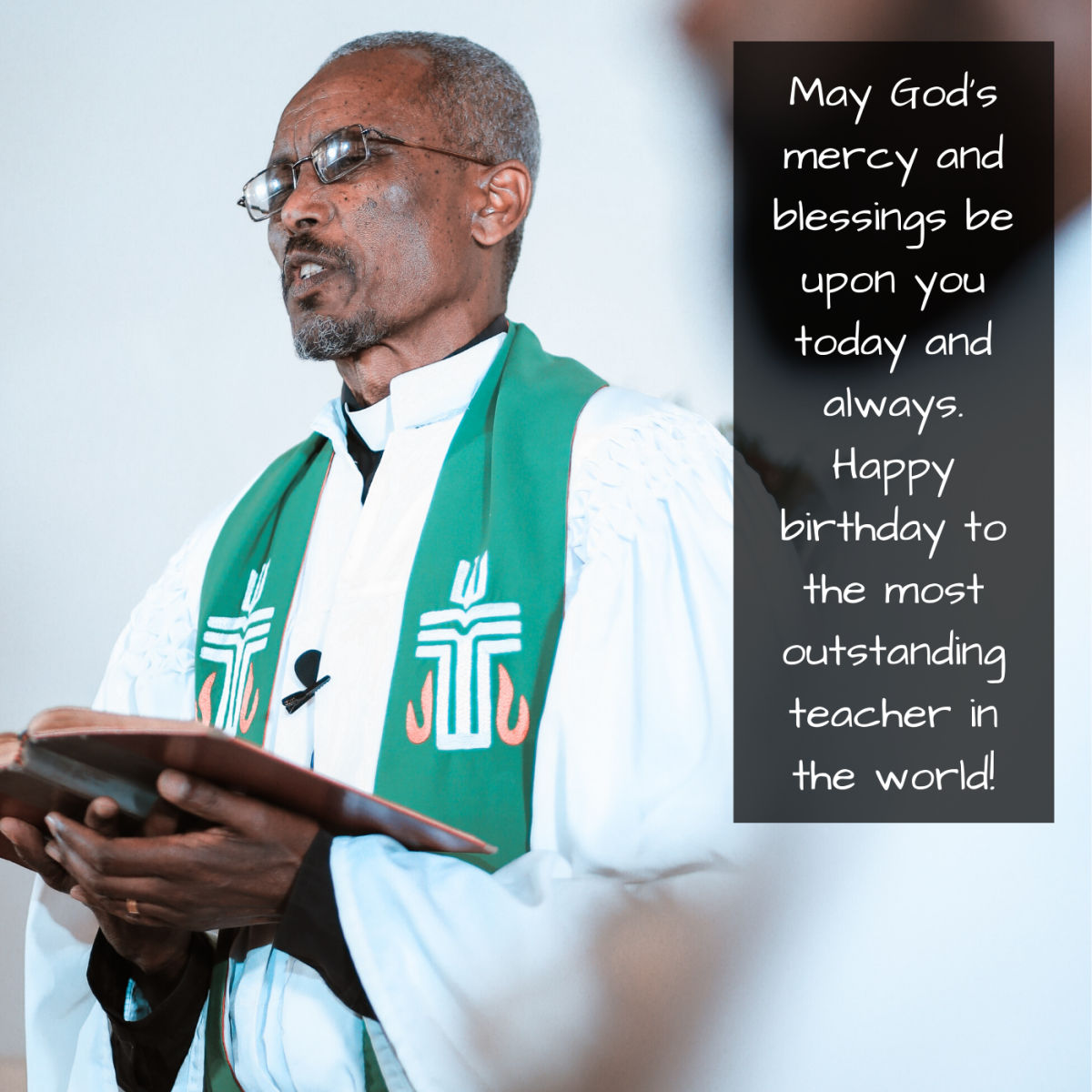 Spiritual leaders are teachers, too! Don't let them go under-appreciated on their special day!